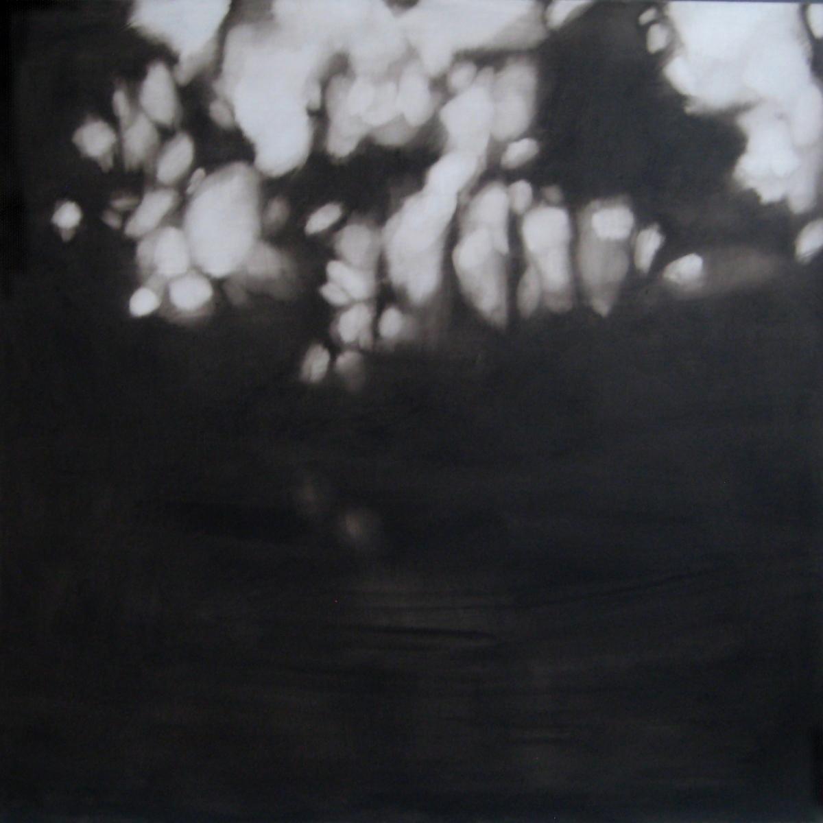 Vastavaloon I, öljy ja pigmentti levylle, 97 x 97 cm, 2017
